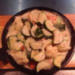 Dienstags kocht der Chef!  Gemüsepfanne, Hüftsteak und Medaillons in Gorgonzolasoße.