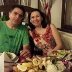 Nós jantando no hotel