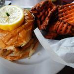 Fabulous Perch Sandwich & Sweet Potato Fries