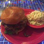 Wild Boar B Que with cole slaw