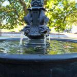 Laughing fish - one of the town's many fountains