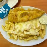 Fish and CHEESY Chips :)