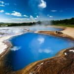 Hot spring area