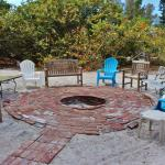 Fire pit for evening conversations at Rolling Waves