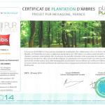 Plant for the Planet - Projet Pur Hexagone - 5000 arbres plantés