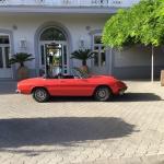 The 1974 Alfa Romeo outside our hotel