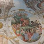 Library room: Close-up of ceiling detail