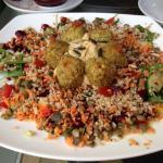 Amazing falafel vegan salad