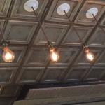 Tin Ceiling and lights