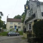 Hill Cottage and the old Wheatsheaf pub
