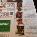 The menu, masquerading as a newspaper