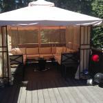 Outside deck screened in gazebo