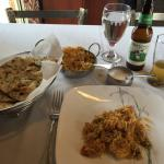 Had a great lunch. Shrimp & veggie biryani, garlic nan & a New Galarus Spotted Cow, for $20 incl