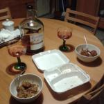 take away dinner+wine :-)