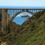 View of Bixby Bridge from the N end of Old Coast Road