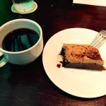 Peanut Butter Brownie and Waialua Coffee