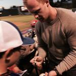 Caught a ball & met Seahawks punter Jon Ryan at the Rainiers game!