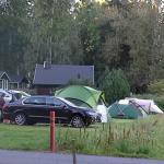 Rastila log cabin in background