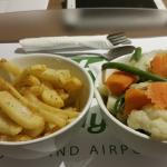 bowl of chips and vegetables room service