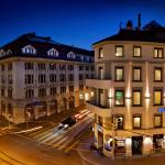 Exterior Night at Fleming's Hotel Zurich