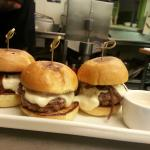 Beef Sliders with carmelized onions and cheese fondue