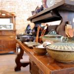 Gallery interior: pottery by Hamilton Williams