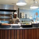 Pizza Express LB Kitchen Chef Working Hard