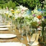 Wedding Farm Table Set up at A Matter of Taste @Tapawingo