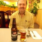 Totem Restaurant. Cerveza y sopa.