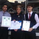 Celebrating our trip advisor & good food award 2015