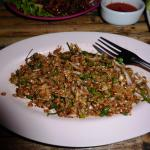 Catfish larb...spicy and tasty...