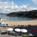 The view from our room - beautiful sandy beach