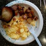 This breakfast is a little more than continental,I had some of the best potatoes for breakfast h