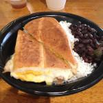 The Cuban with rice and beans