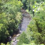 Looking down on Tohickson Creek