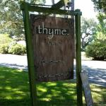 Thyme on the Bay Sign