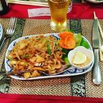 Les pâtes thaï au poulet