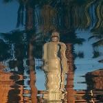 Anahata Springs Spa Retreat Reflection Of Kwan Yin In Pool