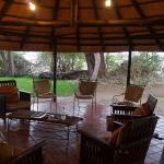 Lounge area in the main boma