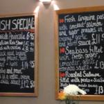Extensive fish specials board