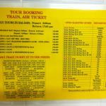 Daftar harga trip dan bis per September 2015