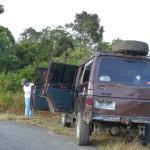 Mit Doris und Gunawan im Jeep im Bada Valley
