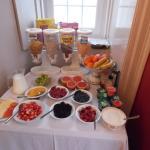 beautiful breakfast fruits