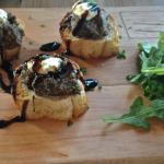 Mushroom Flatbread: Truffle, Arugula & Ricotta
