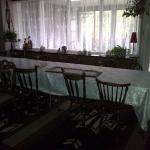 Dining Area with patio in background