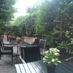 Our secluded beer garden to the rear