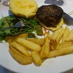 The 6-7 menu. Beef & chorizo burger on brioche bun. Delicious!