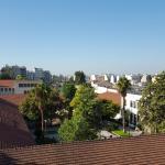 Blick von der Dachterrasse - keine Akropolis zu sehen, obwohl es angegeben wird