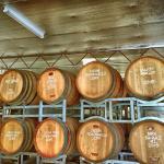 Barrels at Tobin's winery