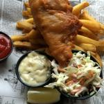 fish and chips and slaw. perfectly crisp.